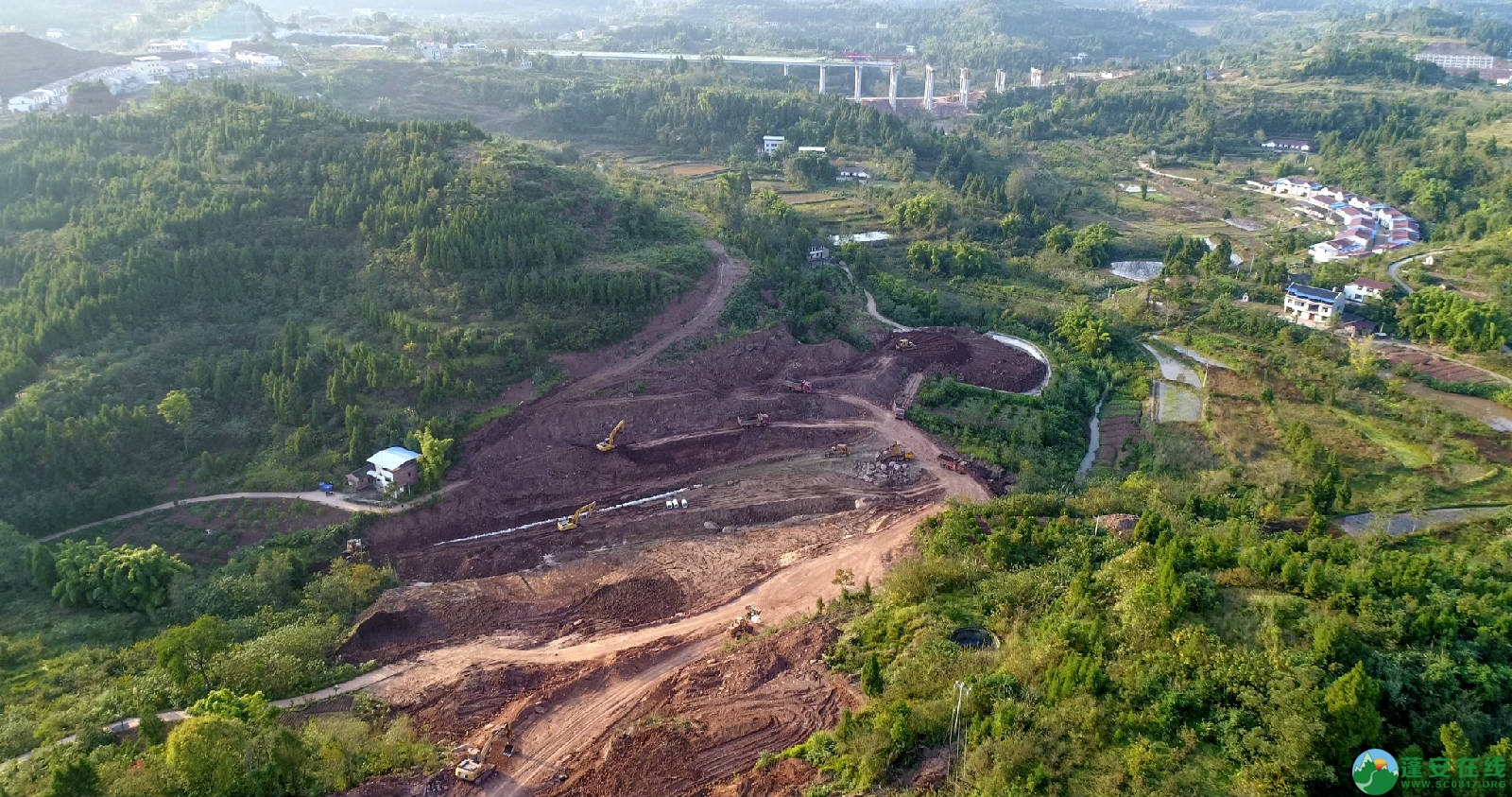 凤凰大桥西延线工程进展(2018年11月3日) - 第14张  | 蓬安在线
