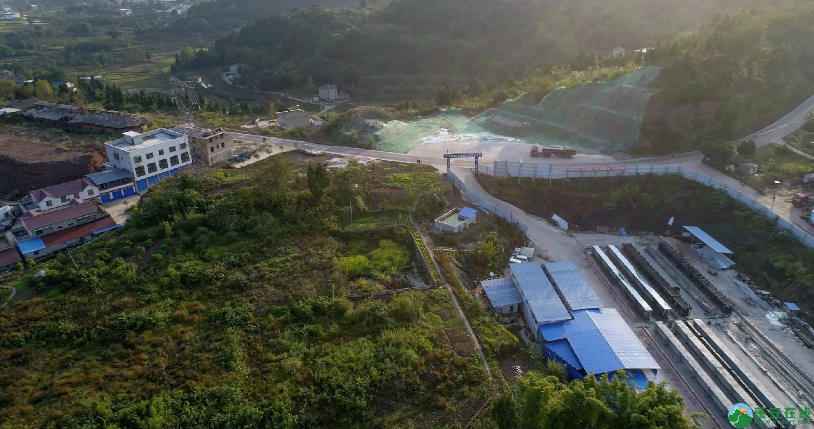 凤凰大桥西延线工程进展(2018年11月3日) - 第2张  | 蓬安在线