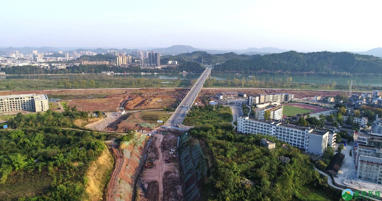 凤凰大桥西延线工程进展(2018年11月3日) - 第9张  | 蓬安在线