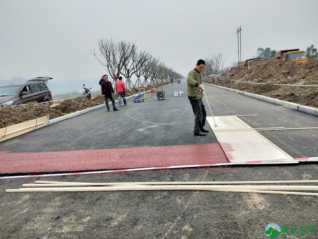 蓬安锦屏湿地公园漫步跑道修建进度(2019年1月13日) - 第2张  | 蓬安在线