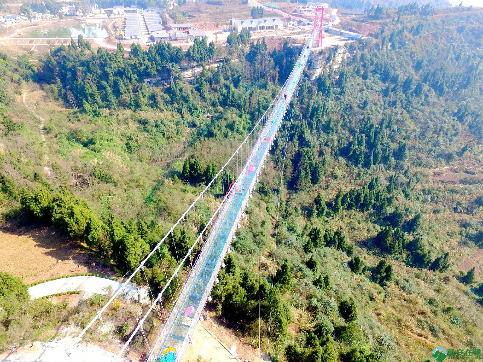 蓬安县正源镇红豆村首个悬空玻璃吊桥正式开放 - 第8张  | 蓬安在线