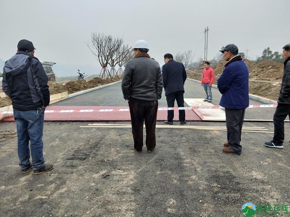 蓬安锦屏湿地公园漫步跑道修建进度(2019年1月13日) - 第3张  | 蓬安在线