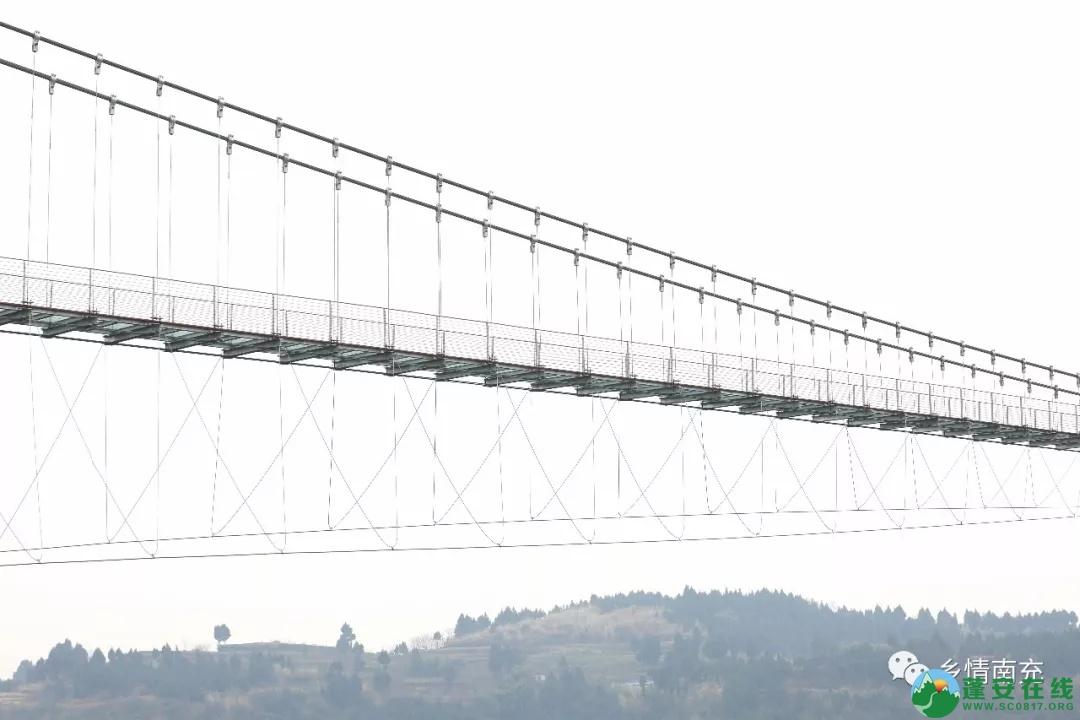 蓬安县正源镇红豆村首个悬空玻璃吊桥正式开放 - 第21张  | 蓬安在线