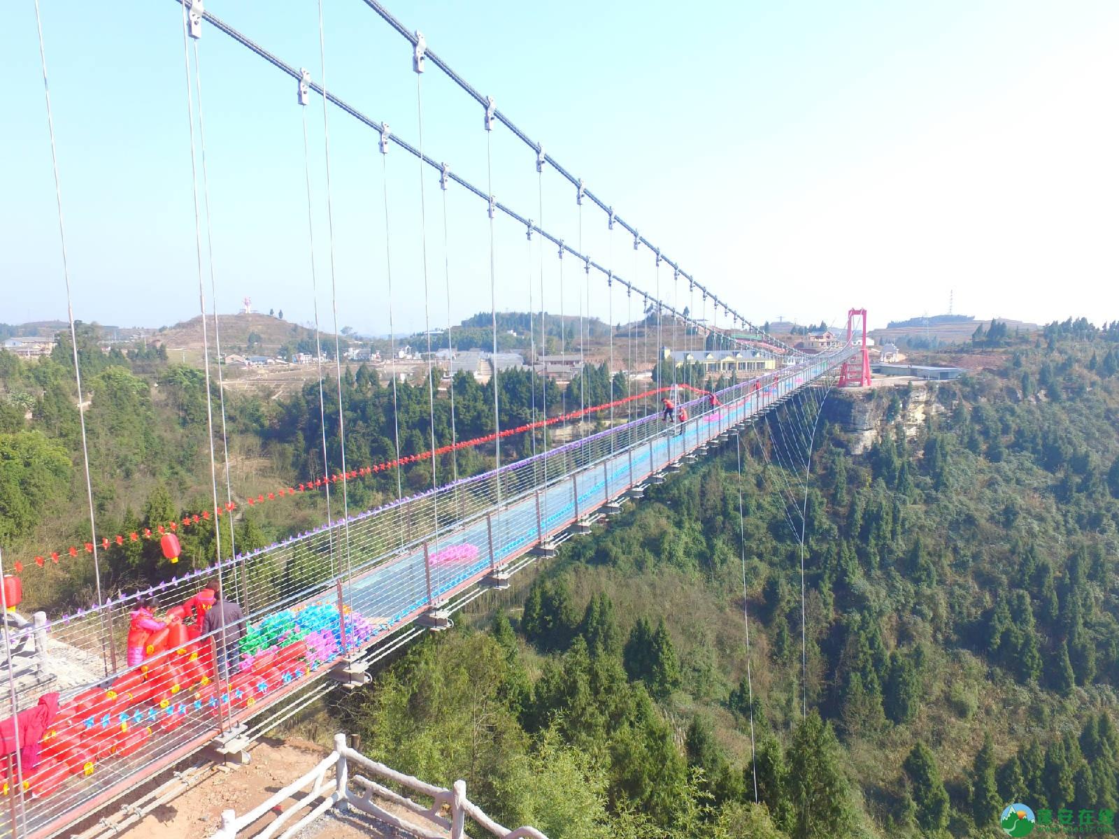 蓬安县正源镇红豆村首个悬空玻璃吊桥正式开放 - 第13张  | 蓬安在线