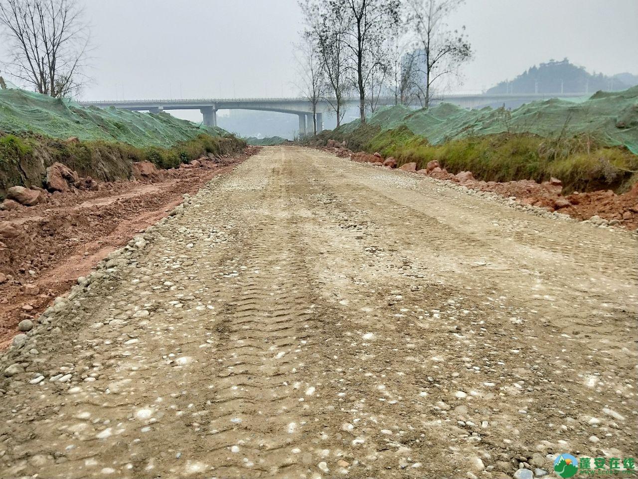 蓬安锦屏湿地公园漫步跑道修建进度(2019年1月13日) - 第8张  | 蓬安在线