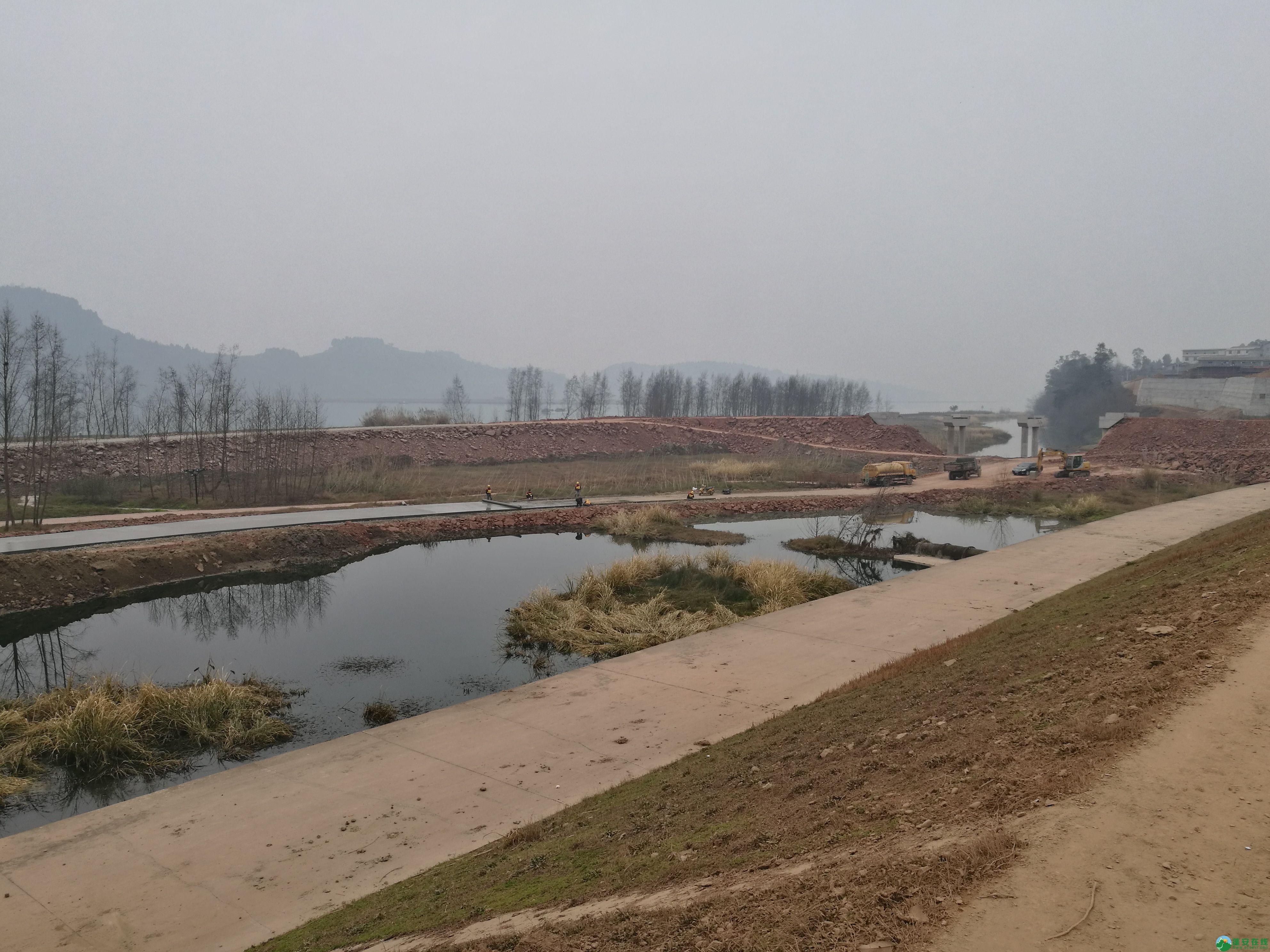 顺蓬营一级公路蓬安锦屏段正在施工嘉陵江三桥施工便道 - 第4张  | 蓬安在线