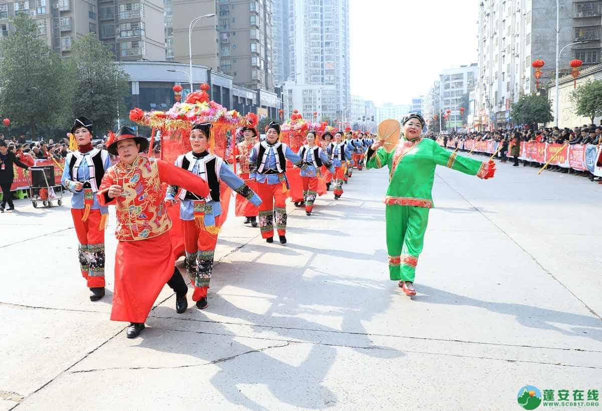蓬安县2019年迎新春民间民俗街头文艺巡演精彩片段 - 第29张  | 蓬安在线