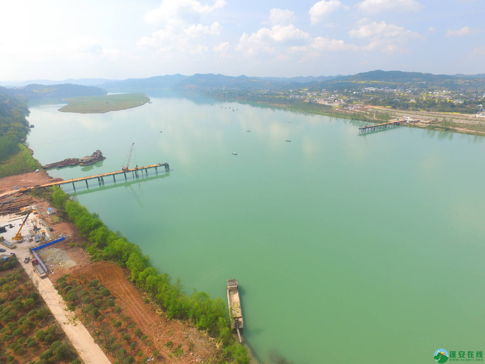 蓬安嘉陵江三桥新进展(2019.3.18) - 第1张  | 蓬安在线