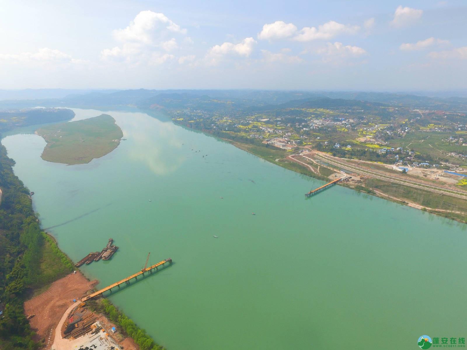 蓬安嘉陵江三桥新进展(2019.3.18) - 第4张  | 蓬安在线