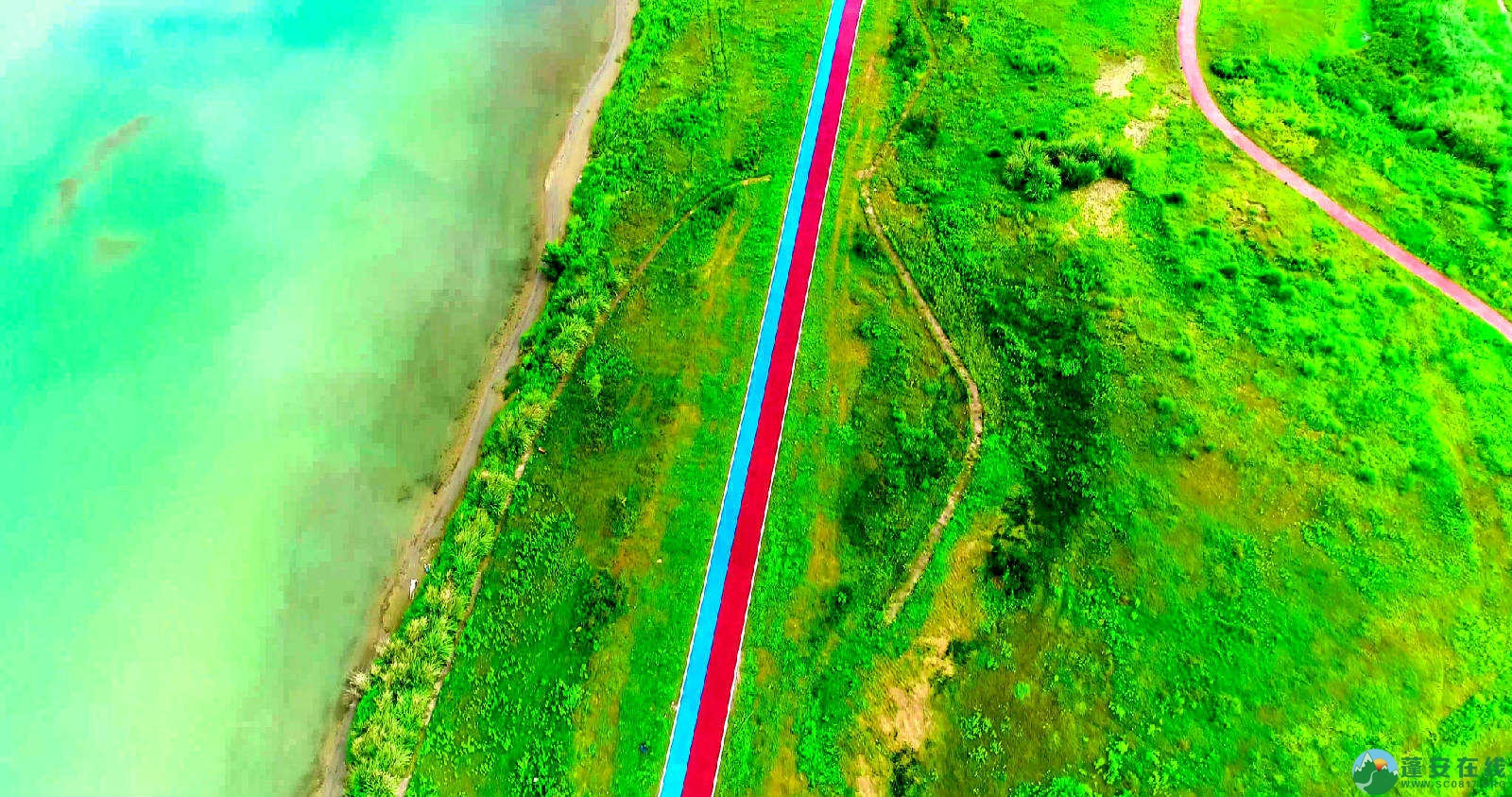 蓬安锦屏湿地公园双色跑道 - 第3张  | 蓬安在线
