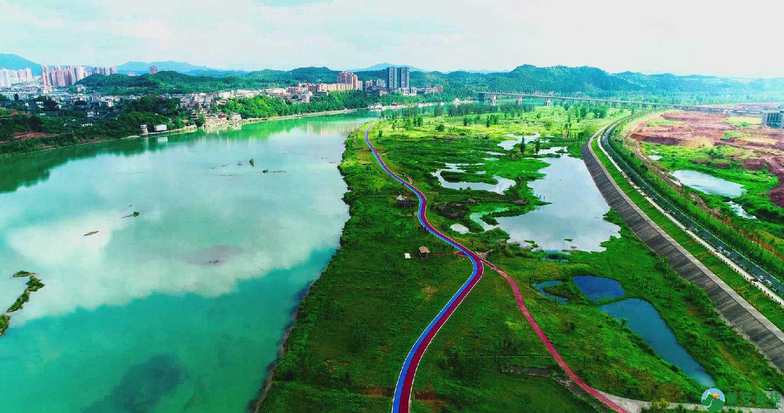 蓬安锦屏湿地公园双色跑道 - 第5张  | 蓬安在线