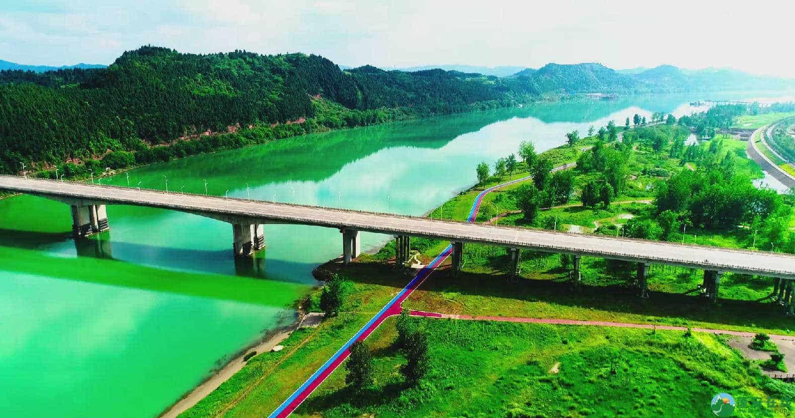 蓬安锦屏湿地公园双色跑道 - 第7张  | 蓬安在线
