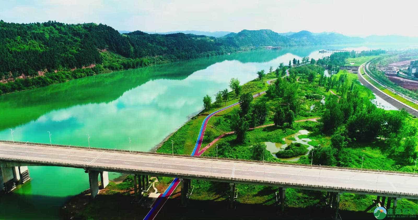 蓬安锦屏湿地公园双色跑道 - 第8张  | 蓬安在线