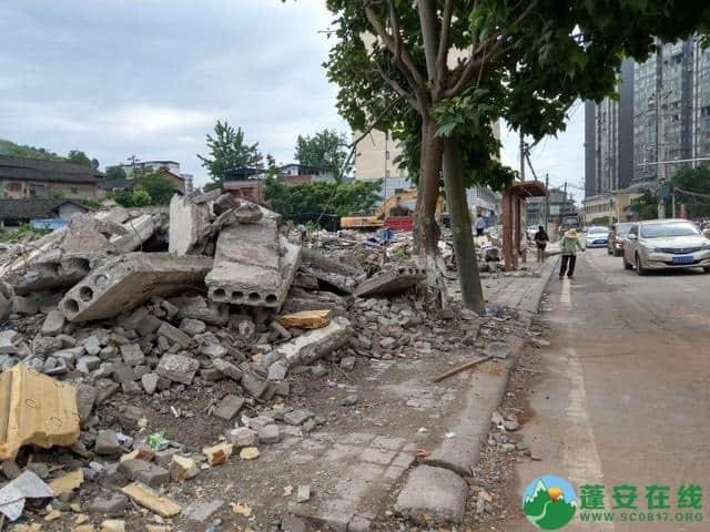 蓬安县嘉陵西路附近部分老旧房屋被拆除 - 第3张  | 蓬安在线