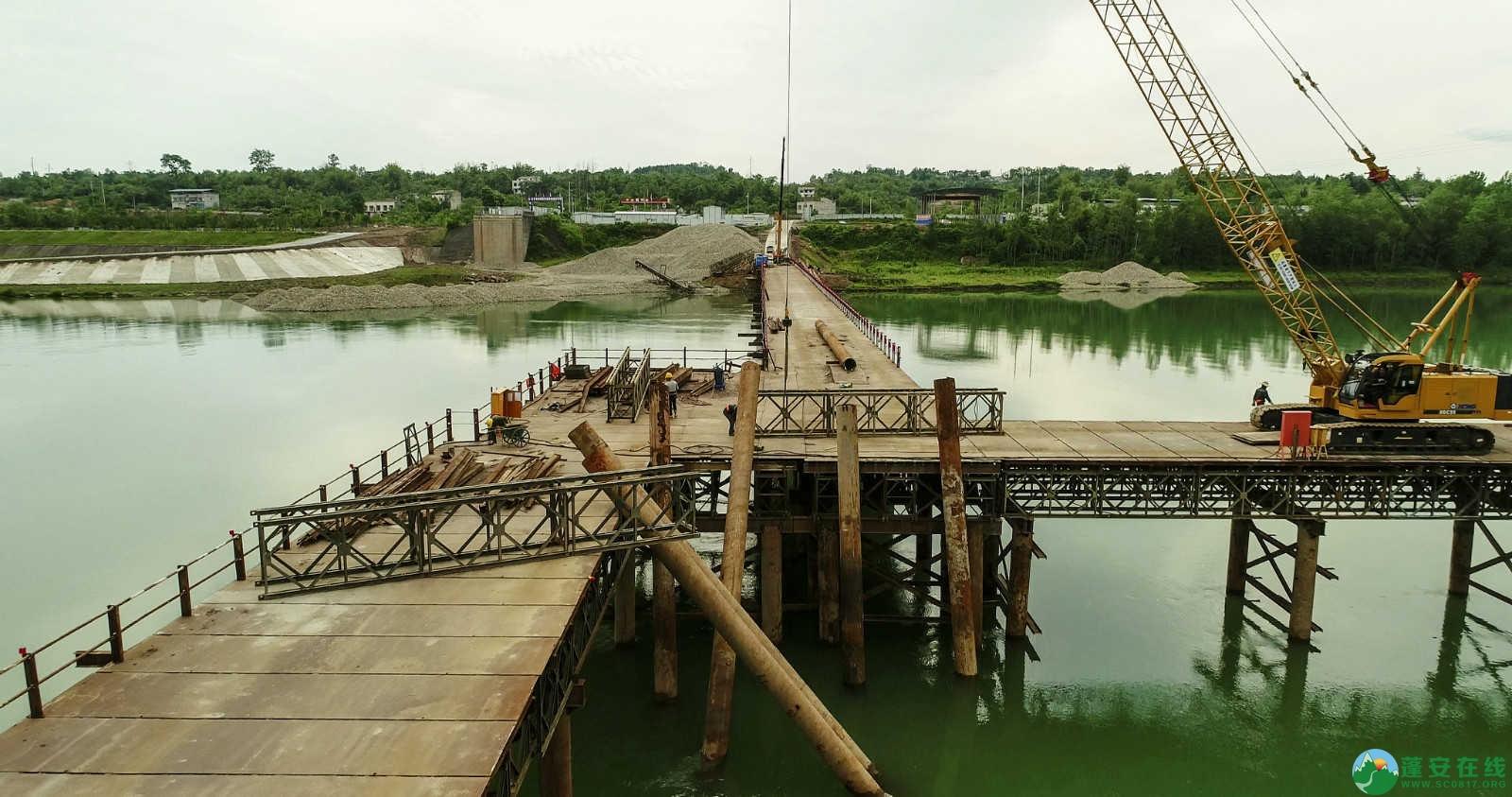蓬安嘉陵江一桥修建进(2019年5月11日) - 第5张  | 蓬安在线