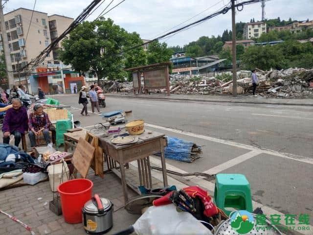 蓬安县嘉陵西路附近部分老旧房屋被拆除 - 第6张  | 蓬安在线
