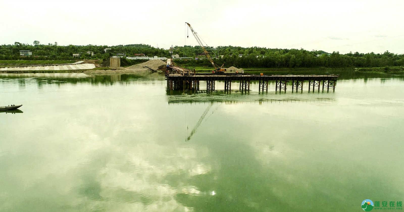 蓬安嘉陵江一桥修建进(2019年5月11日) - 第7张  | 蓬安在线