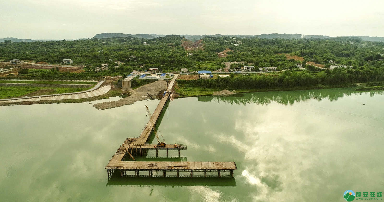 蓬安嘉陵江一桥修建进(2019年5月11日) - 第17张  | 蓬安在线