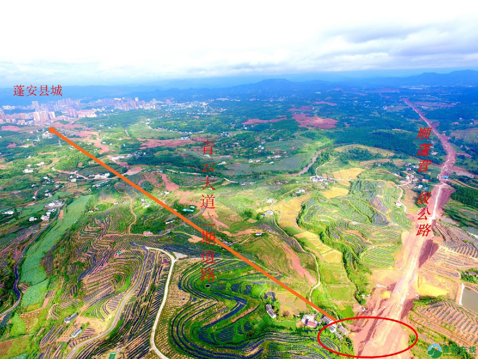 顺蓬营一级公路蓬安段、青云大道二期道路最新进展(2019.8.29) - 第3张  | 蓬安在线