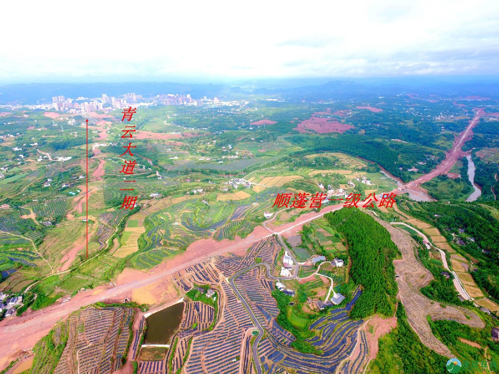 顺蓬营一级公路蓬安段、青云大道二期道路最新进展(2019.8.29) - 第11张  | 蓬安在线