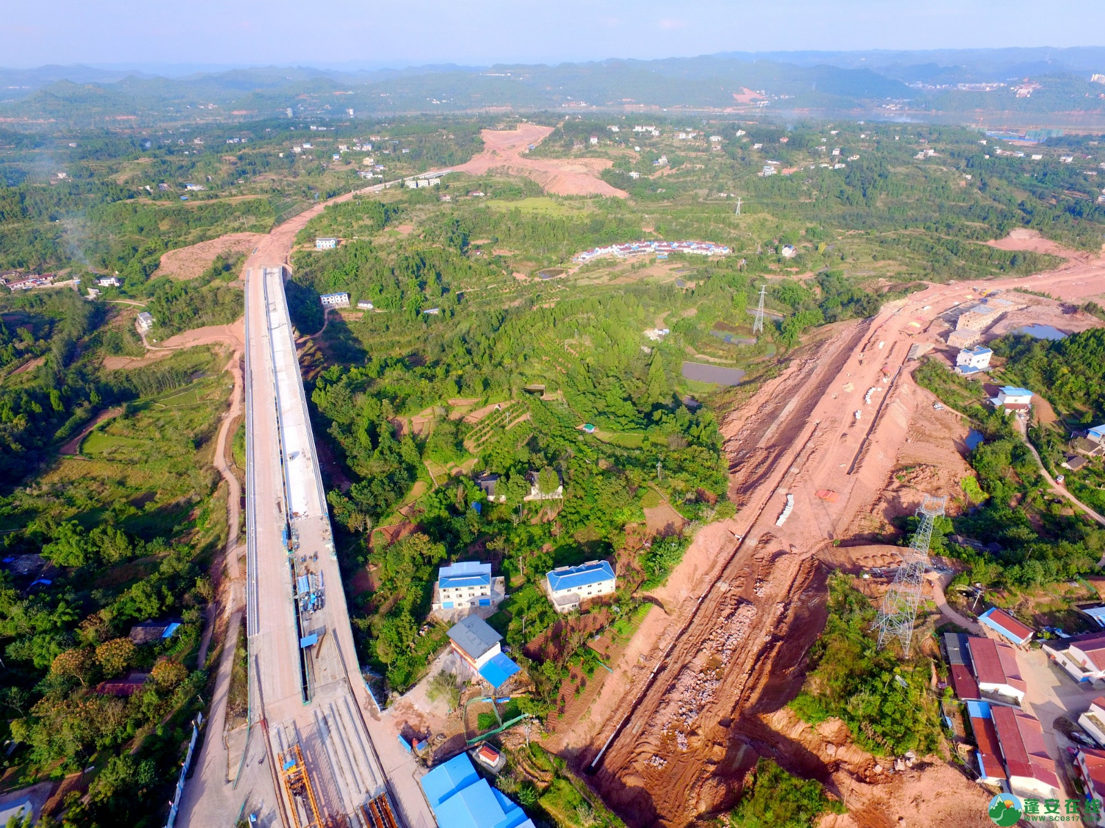 蓬安绕城北路锦屏段、凤凰大桥西延线最新进展!(2019.11.1) - 第11张  | 蓬安在线