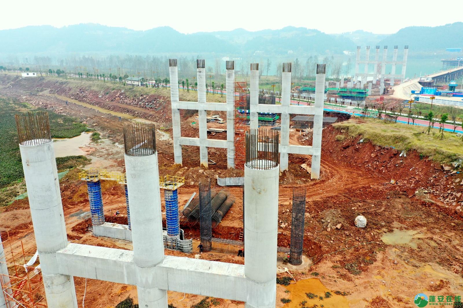 蓬安县顺蓬营公路蓬安嘉陵江三桥进展情况(2019.12.25) - 第3张  | 蓬安在线