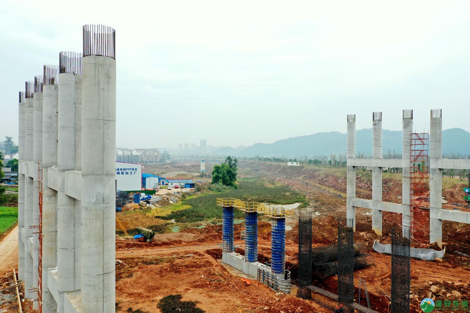 蓬安县顺蓬营公路蓬安嘉陵江三桥进展情况(2019.12.25) - 第4张  | 蓬安在线