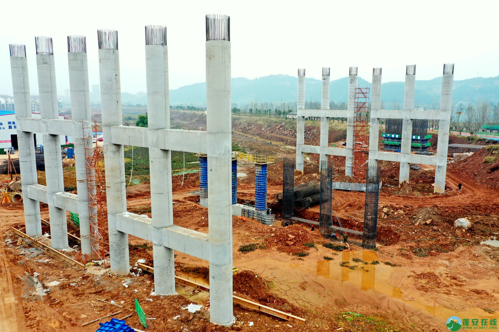 蓬安县顺蓬营公路蓬安嘉陵江三桥进展情况(2019.12.25) - 第6张  | 蓬安在线