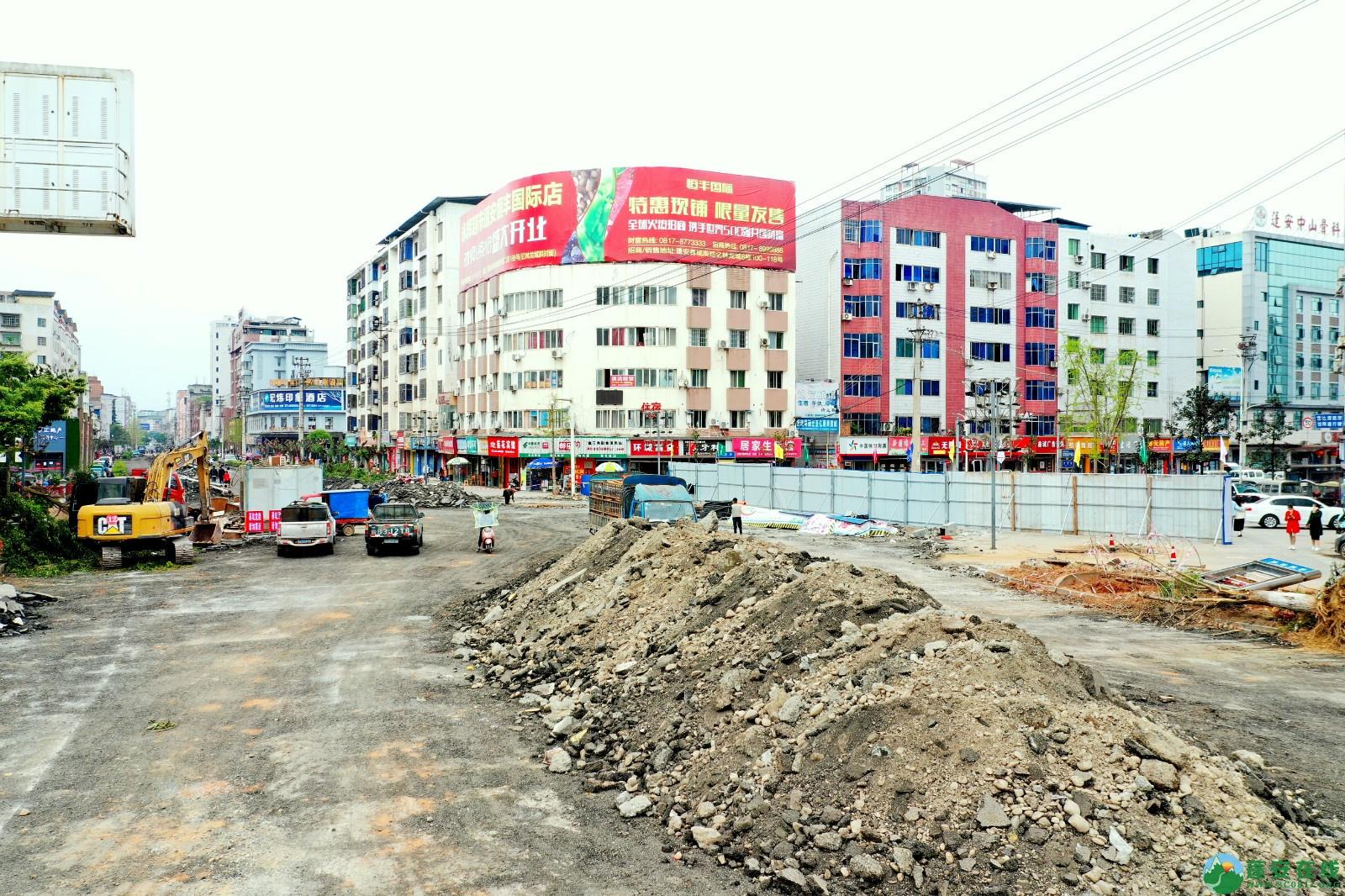 蓬安建设南路老旧街道小区美化改造(2020.3.22) - 第1张  | 蓬安在线
